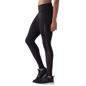 Lululemon Smooth Stride Tight Black Luxtreme Sz 12